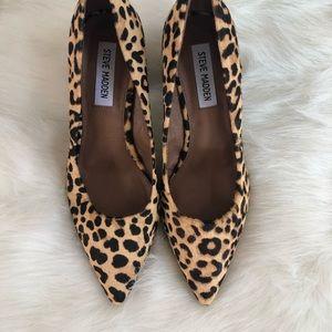 Steve Madden Leopard Pony hair block heel